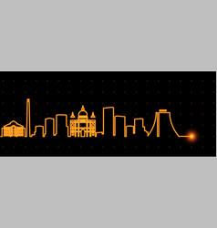 Porto alegre light streak skyline vector