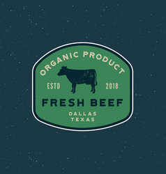 Premium fresh beef label retro styled meat shop vector