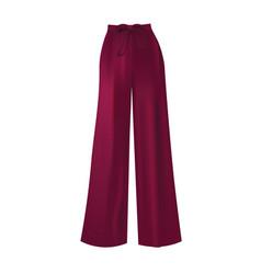 Purple loose pants vector