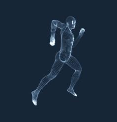 Running man 3d model of man human body vector