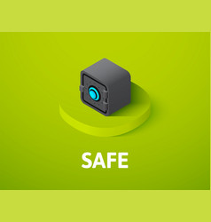 safe isometric icon isolated on color background vector image