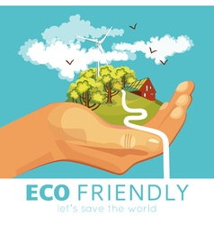 Saving Of Environment Poster vector