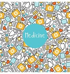Seamless pattern medicine vector image