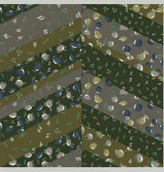 seamless pattern with olive leaves and olives vector image