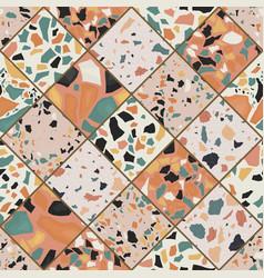 Seamless terrazzo pattern vector