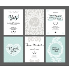 Set save date cards vector