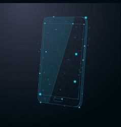 Smart phone abstract cosmic vector
