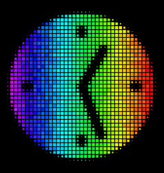 Spectrum dotted clock icon vector