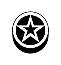 Star In a circle icon simple style vector