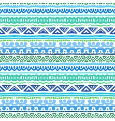 Striped ethnic pattern in vibrant blue and green vector