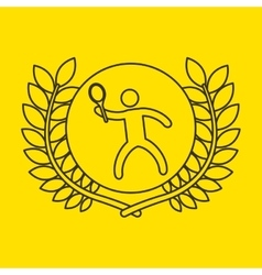 tennis sportsman flag background design vector image