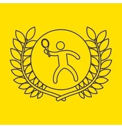 Tennis sportsman flag background design vector