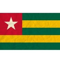 Togo paper flag vector image