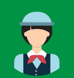 tour guide characte icon great of character use vector image