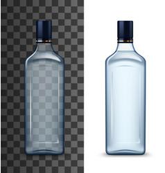 Vodka or gin bottle mockup high spirit drink vector