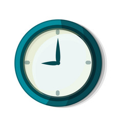 wall clock icon cartoon style vector image