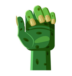 Zombi arm icon cartoon style vector