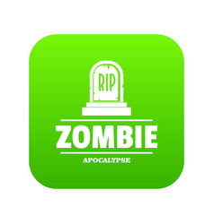 Zombie death icon green vector