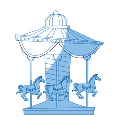 carnival carousel horse circus park festival vector image