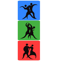 dancing symbol buttons vector image vector image