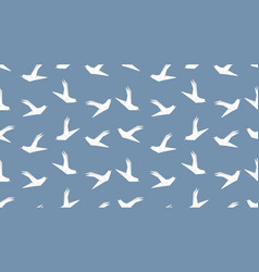 origami dove bird seamless pattern on blue vector image vector image