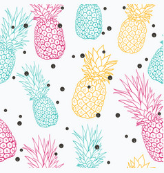 Pineapple polka dot summer colorful vector