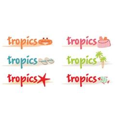 Rest symbols in tropics vector image vector image