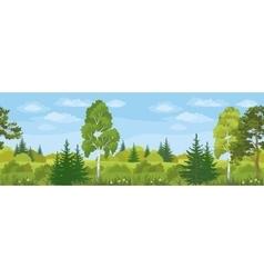 Seamless Horizontal Landscape Summer Forest vector image