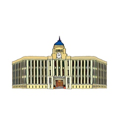 A view of city hall vector image