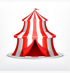 circus tent on white vector image
