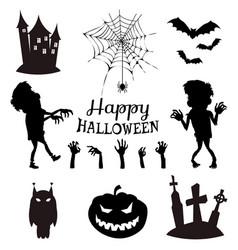 happy halloween banner on vector image vector image