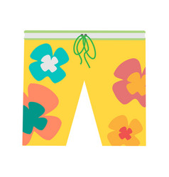 beach shorts in flat design vector image vector image