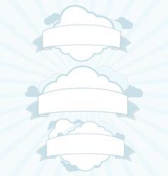Cloud service vintage banner set vector image vector image