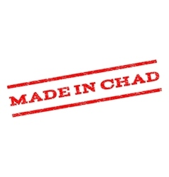 Made In Chad Watermark Stamp vector image