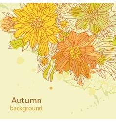 Orange autumn perfect background vector image