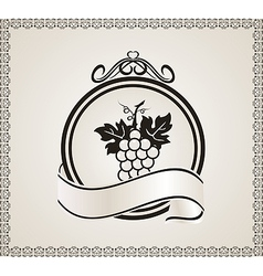 Retro label for packing wine - vector