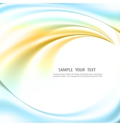 Abstract background blue and green lines vector image