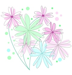 Abstract floral retro background vector image vector image