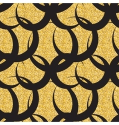 Abstract Simple Glossy Golden Seamless Pattern vector image vector image