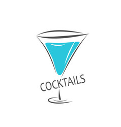 alcohol cocktail vector image