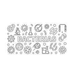 bacterias horizontal - virus vector image vector image