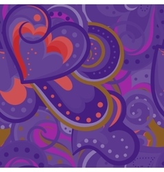 Cute valentines seamless pattern with vector image vector image