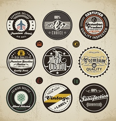 Retro Labels Collection vector image vector image