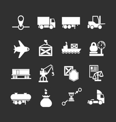 Set icons of logistic vector image vector image