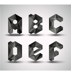 trendy black alphabet vector image vector image