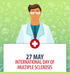 27 may international day of multiple sclerosis vector
