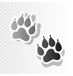 animal tracks sign new year blackish icon vector image