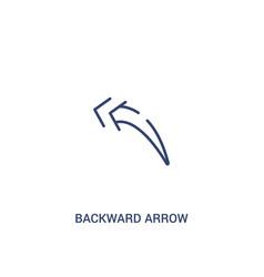 Backward arrow concept 2 colored icon simple line vector