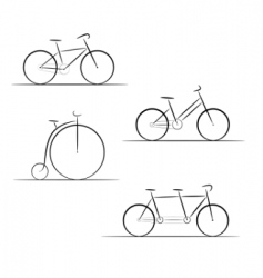 Bicycle logos vector