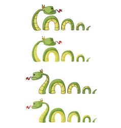 big smile snake vector image